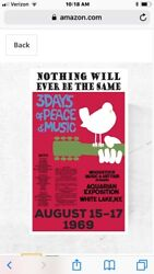 "TIN SIGN quot;Woodstock Fest "" Rock And Roll Vintage Decor Music Festival Tunes $7.35"
