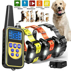 2600FT Remote Dog Shock Training Collar Rechargeable LCD Pet Trainer Waterproof $27.99