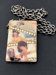 Cowgirl Lucite Vintage Necklace $8.40