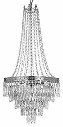 French Empire Crystal Chandelier Chandeliers Lighting SILVER H30 X Wd17 4 Lights $130.22