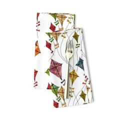 Kites Small Prints Flying Sky Toys Cotton Dinner Napkins by Roostery Set of 2 $29.00