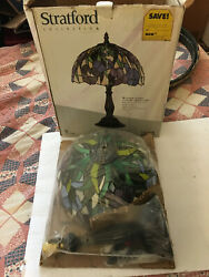 Vintage Tiffany Reproduction Lamp Shade 12quot; Stained Glass Shade NOS in box $115.95