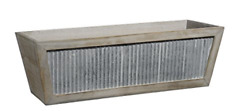 Classic Home and Garden Wood Window Box Galvanized Accent $41.25