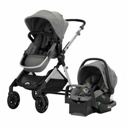 BRAND NEW Evenflo Pivot Xpand Modular Travel System with Infant Car Seat Gray $299.95