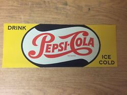 "TIN SIGN quot;Pepsi Cola Yellow"" Vintage Decor Mancave Soda Diner Boutique Antique $5.35"