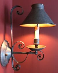 2 Rustic Farmhouse Wall Sconce Light Fixtures Murray Feiss $90.00