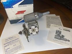 Vintage 1970 Super Tigre G20 23 RC Engine with Muffler W Box And Paperwork $85.00