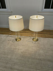 Pair of Beautiful Ralph Lauren Gold Glass Lamps Tags still on $299.00
