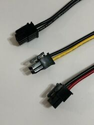 24in 16AWG PCIE 6pin Male to 6pin Male Power cable for GPU risers 2 wire hookup $6.37