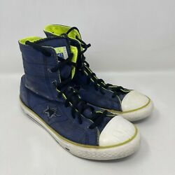 Converse One Star Boys Youth#x27;s High Top Sneakers Size 4 Blue $21.99