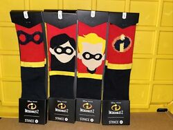 Stance Set off 4 Disney the Incredibles 2 Crew Socks Size Youth Large 2 5.5 . $35.99