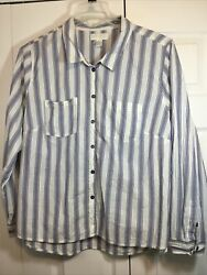 Forever 21 PLUS Women#x27;s LONG SLEEVE BUTTON UP SHIRT BLOUSE TOP TUNIC SIZE 3XL $14.50