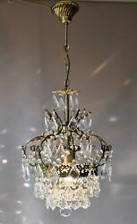 Rare Antique Style French Lamp Crystal Chandelier Home Living Interior Lighting GBP 725.00