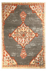 Distressed Bohemian 2#x27;x4#x27; Dark Grey Moroccan Oriental Area Rug 501 $29.99