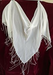 Sarong Sheer White Swimsuit Beach Cover Up Wrap Skirt beaded boho one size 66x31 $9.99