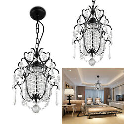 US Crystal Chandelier Chrome lampshade Crystal Chandeliers Lighting Fixture New $35.69