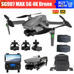 SG907 MAX 3 axis Gimbal 5G WIFI 4K HD Camera GPS RC Drone Quadcopter Brushless $195.99