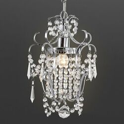 Modern Crystal Chandelier Lighting Hanging Lamp Ceiling Pendant Light Fixture $34.79