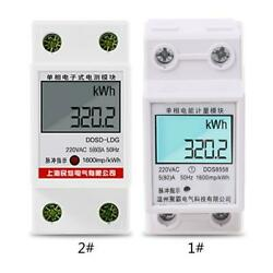 Home 80A LCD Digital Single Phase Energy Meter Multifunction Power Consumption $15.13