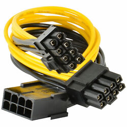 10 Pack PCI E 8 pin to 2x 62 pin 6 pin 8 pin Power Splitter Cable PCIE Mining $35.95