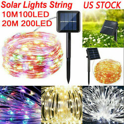 100 200 LED Solar Power Fairy Lights String Lamp Party Xmas Decor Garden Outdoor $8.89