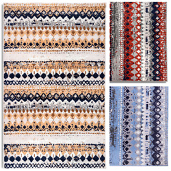 Geometric Bohemian 2#x27;x4#x27; Distressed Rustic Area Rug 514 $29.99