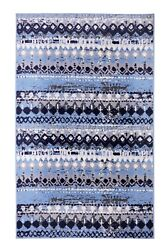 Geometric Bohemian 2#x27;x4#x27; Light Blue Distressed Rustic Area Rug 514 $29.99