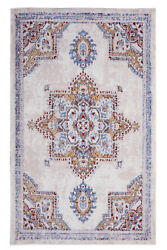 Distressed Bohemian 2#x27;x4#x27; Peach Transitional Moroccan Oriental Rug 512 $29.99