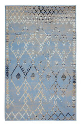 Trellis Bohemian 2#x27;x4#x27; Light Blue Moroccan Faded Transitional Area Rug 511 $29.99