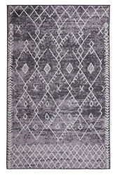 Trellis Bohemian 2#x27;x4#x27; Light Grey Moroccan Faded Transitional Area Rug 511 $29.99