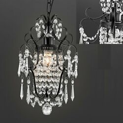Crystal Chandelier Chrome lampshade Crystal Chandeliers Lighting Fixture Indoor $35.89