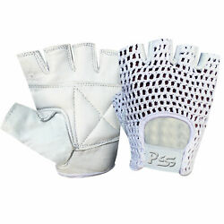Padded Mesh Fingerless Leather Weight Lifting Training Wheel Chair Gloves 404 $33.44