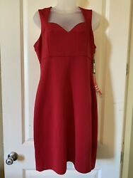 Guess Red Cocktail Dress Size 14 NWT New $31.00