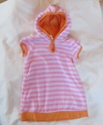 Old Navy baby girl 6 12 month pink stripe terry cloth beach cover up $5.50