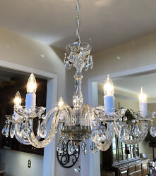 Antique Crystal Chandelier 6 arm's $375.00