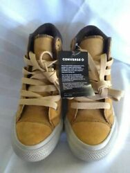 Converse All Star Boys Shoes Yellow Hightop Lace Up Sneakers 4 $23.99