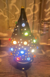 MCM Mid Century Clay Lamp With Inset Marbles $39.99