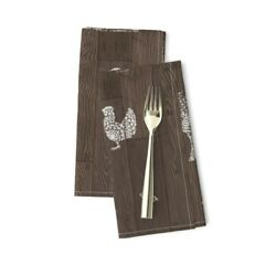 Barn Wood Floor Modern Farmhouse Cotton Dinner Napkins by Roostery Set of 2 $29.00