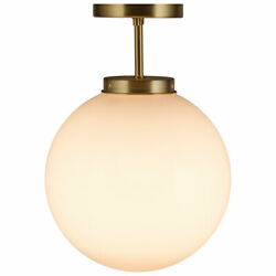 Globe Ceiling Lamp Home Semi Flush Mount Light w Acrylic Lamp Shade Bedroom $38.49