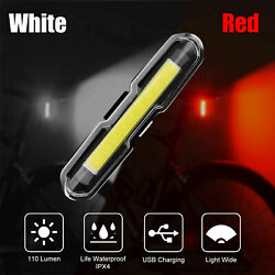 USB Rechargeable Bike Light MTB Bicycle Back Rear Taillight Cycling Safety Warn $10.99