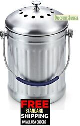Cook N Home 1 Gallon Stainless Steel Kitchen Compost Bin with Charcoal Filter $24.95