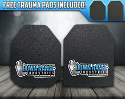 AR500 Level 3 III Body Armor Plates 10x12 Multi Curved SPALL COATING OPTIONS $99.95