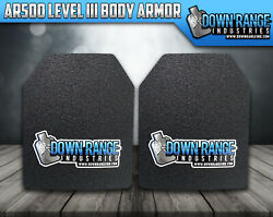 Body Armor AR500 Level 3 Set Of Plates Curved 10x12 $85.46