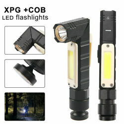 USB Rechargeable Magnetic Work Light Flashlight LED COB Torch Headlight Camping $12.77