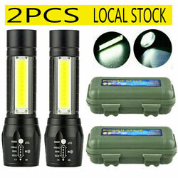 900000LM LED Flashlight Tactical Light Super Bright Torch USB Rechargeable COB $12.48