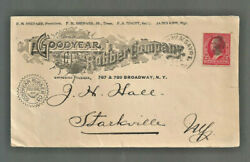 1900 US commercial cover RPO Goodyear Rubber Illus to Starkville NY SC279B