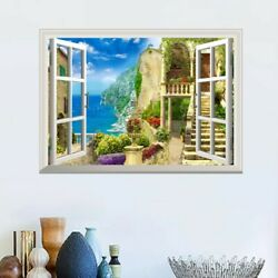 3D Home Sea And House Mural Removable Wall Sticker PVC Decal Room Decor C $13.53