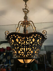 Brass Chandelier Antique $1200.00