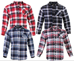 Flannel Plaid Shirt Mens Western Button Pockets 5 Colors Long Sleeve Top Quality $17.99