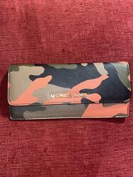 Michael Kors Wallet Orange Camo NWT